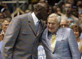 Michael Jordan with Coach Dean Smith